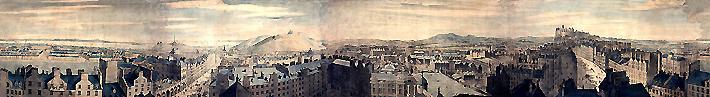 A portion of the Robert Barker Edinburgh Panorama (1792). (acweb.cs.depaul.edu)