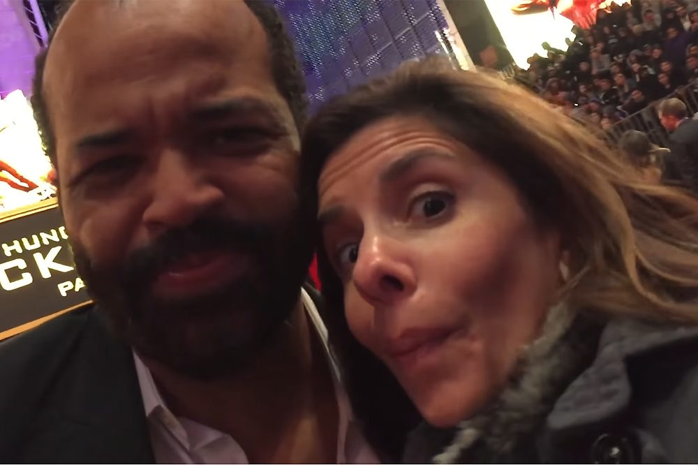 Jeffrey Wright-Lisa Pirro-Mockinjay Premiere-TVolution